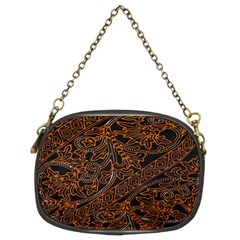 Art Traditional Indonesian Batik Pattern Chain Purses (Two Sides)