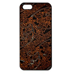 Art Traditional Indonesian Batik Pattern Apple Iphone 5 Seamless Case (black) by Amaryn4rt