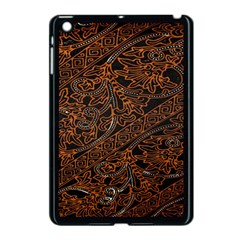 Art Traditional Indonesian Batik Pattern Apple Ipad Mini Case (black) by Amaryn4rt