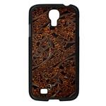 Art Traditional Indonesian Batik Pattern Samsung Galaxy S4 I9500/ I9505 Case (Black)