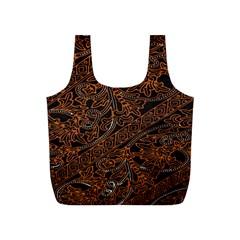 Art Traditional Indonesian Batik Pattern Full Print Recycle Bags (S)