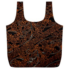 Art Traditional Indonesian Batik Pattern Full Print Recycle Bags (l)  by Amaryn4rt