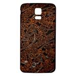 Art Traditional Indonesian Batik Pattern Samsung Galaxy S5 Back Case (White)