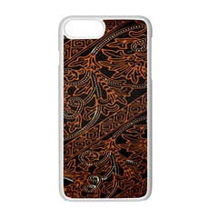 Art Traditional Indonesian Batik Pattern Apple Iphone 7 Plus White Seamless Case by Amaryn4rt