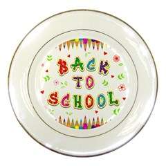 Back To School Porcelain Plates by Amaryn4rt