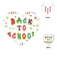 Back To School Playing Cards (heart)  by Amaryn4rt