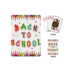 Back To School Playing Cards (mini)  by Amaryn4rt