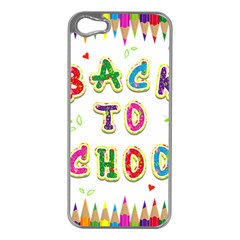 Back To School Apple Iphone 5 Case (silver)