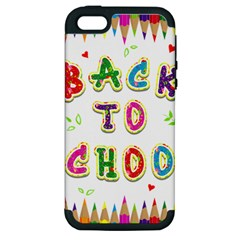 Back To School Apple Iphone 5 Hardshell Case (pc+silicone) by Amaryn4rt
