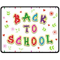 Back To School Double Sided Fleece Blanket (medium)  by Amaryn4rt