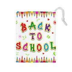 Back To School Drawstring Pouches (large)