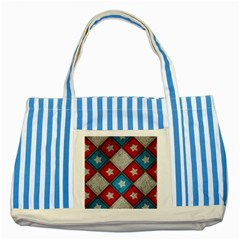 Atar Color Striped Blue Tote Bag by Amaryn4rt