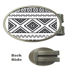 Aztec Pattern Money Clips (oval)  by Amaryn4rt