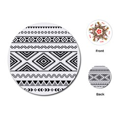 Aztec Pattern Playing Cards (round)  by Amaryn4rt