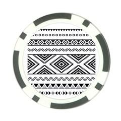 Aztec Pattern Poker Chip Card Guard (10 Pack)
