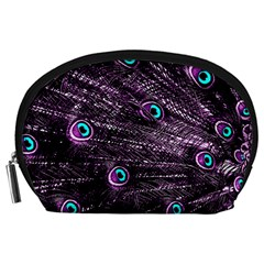 Bird Color Purple Passion Peacock Beautiful Accessory Pouches (large)  by Amaryn4rt