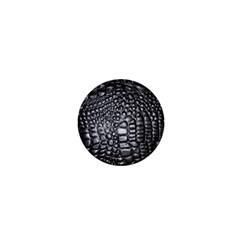Black Alligator Leather 1  Mini Magnets by Amaryn4rt