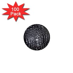 Black Alligator Leather 1  Mini Magnets (100 Pack)  by Amaryn4rt