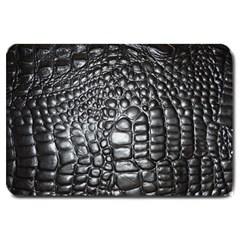 Black Alligator Leather Large Doormat  by Amaryn4rt