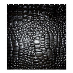Black Alligator Leather Shower Curtain 66  X 72  (large)  by Amaryn4rt
