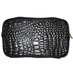 Black Alligator Leather Toiletries Bags 2 Side by Amaryn4rt