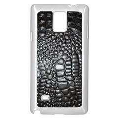 Black Alligator Leather Samsung Galaxy Note 4 Case (white) by Amaryn4rt