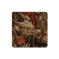 Chinese Dragon Square Magnet by Amaryn4rt