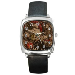 Chinese Dragon Square Metal Watch by Amaryn4rt