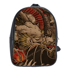 Chinese Dragon School Bags (xl)  by Amaryn4rt