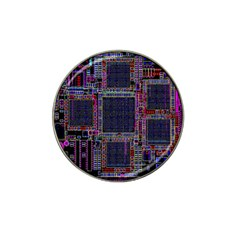 Technology Circuit Board Layout Pattern Hat Clip Ball Marker by Amaryn4rt