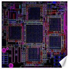 Technology Circuit Board Layout Pattern Canvas 20  X 20   by Amaryn4rt