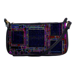 Technology Circuit Board Layout Pattern Shoulder Clutch Bags by Amaryn4rt