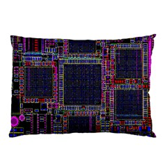 Technology Circuit Board Layout Pattern Pillow Case (two Sides) by Amaryn4rt