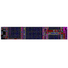 Technology Circuit Board Layout Pattern Flano Scarf (large) by Amaryn4rt