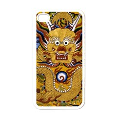 Chinese Dragon Pattern Apple Iphone 4 Case (white) by Amaryn4rt