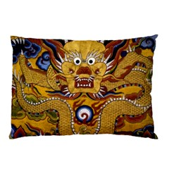 Chinese Dragon Pattern Pillow Case (two Sides) by Amaryn4rt