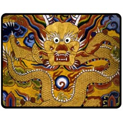 Chinese Dragon Pattern Double Sided Fleece Blanket (medium)  by Amaryn4rt