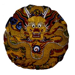 Chinese Dragon Pattern Large 18  Premium Flano Round Cushions by Amaryn4rt