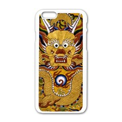 Chinese Dragon Pattern Apple Iphone 6/6s White Enamel Case by Amaryn4rt