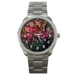 Circle Abstract Sport Metal Watch by Amaryn4rt