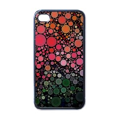 Circle Abstract Apple Iphone 4 Case (black) by Amaryn4rt