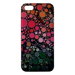 Circle Abstract Apple Iphone 5 Premium Hardshell Case by Amaryn4rt