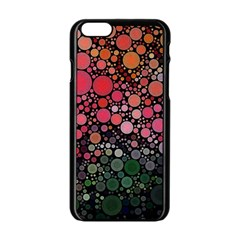 Circle Abstract Apple Iphone 6/6s Black Enamel Case