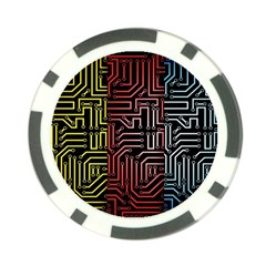 Circuit Board Seamless Patterns Set Poker Chip Card Guard (10 Pack) by Amaryn4rt