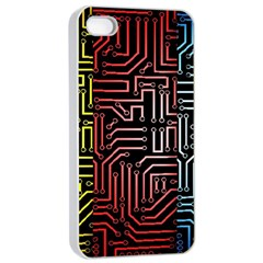 Circuit Board Seamless Patterns Set Apple Iphone 4/4s Seamless Case (white) by Amaryn4rt