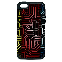 Circuit Board Seamless Patterns Set Apple Iphone 5 Hardshell Case (pc+silicone) by Amaryn4rt