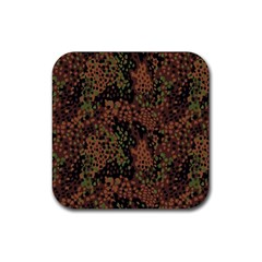 Digital Camouflage Rubber Square Coaster (4 Pack)  by Amaryn4rt