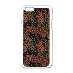 Digital Camouflage Apple Iphone 6/6s White Enamel Case by Amaryn4rt