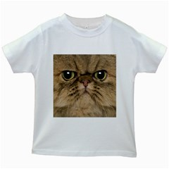 Cute Persian Cat Face In Closeup Kids White T Shirts by Amaryn4rt