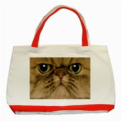 Cute Persian Cat Face In Closeup Classic Tote Bag (red) by Amaryn4rt